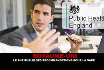 REGNO UNITO: La PHE pubblica le sue raccomandazioni per lo svapo nei luoghi pubblici.