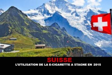 SUISSE : L'utilisation de la e-cigarette a stagné en 2015