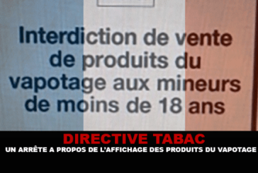 TOBACCO DIRECTIVE: An order regarding the display of vaping products.