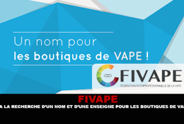 FIVAPE : A la recherche d'un nom et d'une enseigne pour les boutiques de vape.