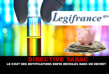 TOBACCO DIRECTIVE: The costs of notifications finally revealed in a decree.