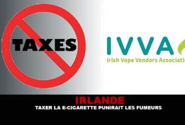 ΙΡΛΑΝΔΙΑ: Η φορολόγηση του ηλεκτρονικού τσιγάρου θα τιμωρήσει τους πρώην καπνιστές.