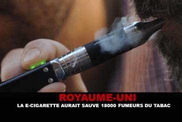 REINO UNIDO: El cigarrillo electrónico habría salvado 18 000 fumadores de tabaco.