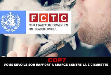 """COP 7: מי חושף את הדו""""ח שלה נגד תשלום e- סיגריה."""