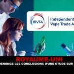 СОЕДИНЕННОЕ КОРОЛЕВСТВО: IBVTA осуждает результаты исследования электронной сигареты