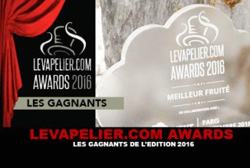 LEVAPELIER.COM AWARDS : Les gagnants de l'édition 2016 !