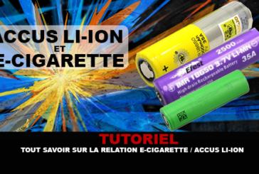 TUTORIAL: Όλα σχετικά με τη σχέση του ηλεκτρονικού τσιγάρου / μπαταρίας ιόντων λιθίου