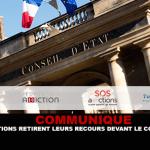 COMUNICA: Le associazioni ritirano il loro ricorso davanti al Consiglio di Stato.