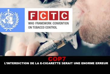 COP7: האיסור על סיגריות אלקטרוני יהיה טעות ענקית.