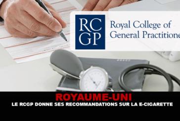 הממלכה המאוחדת: RCGP נותן המלצות על סיגריה אלקטרונית