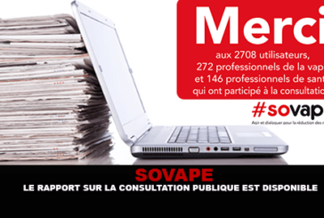 SOVAPE : Le rapport sur la consultation publique est disponible !