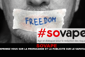 SOVAPE : Exprimez vous sur la propagande et la publicité sur le vapotage !