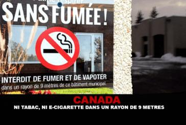קנדה: לא טבק, לא סיגריה אלקטרונית ברדיוס של 9 מטרים ...
