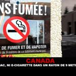 CANADA : Ni tabac, ni e-cigarette dans un rayon de 9 mètres…