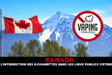 КАНАДА: Запрет на электронные сигареты в общественных местах расширяется.