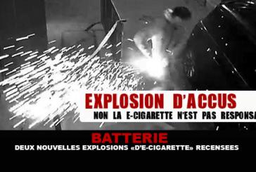 BATTERIE : Deux nouvelles explosions de «e-cigarette» recensées.