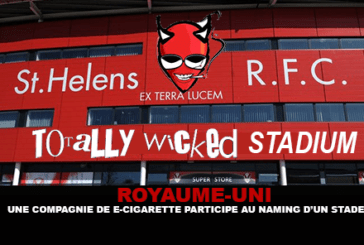 VERENIGD KONINKRIJK: een e-sigarettenfabrikant neemt deel aan de naamgeving van een stadion!