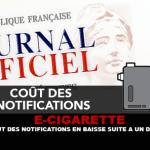 E-CIGARETTE: Το κόστος των ειδοποιήσεων κάτω από ένα διάταγμα