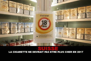 SWITZERLAND: The cigarette should not be more expensive in 2017