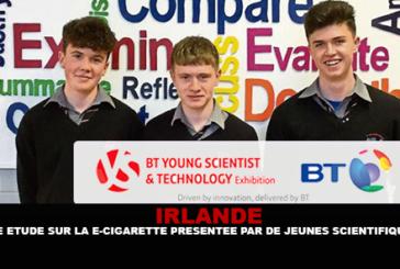 IRLANDE : Une étude sur la e-cigarette présentée par des jeunes scientifiques.