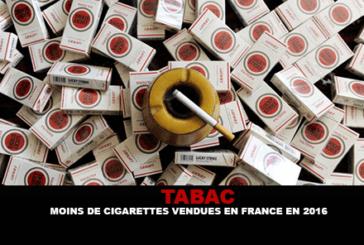 TOBACCO: פחות סיגריות שנמכרו בצרפת ב 2016.