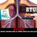 ÉTUDE : La e-cigarette moins toxique que le tabac pour les cellules des bronches