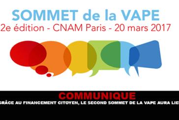 COMMUNIQUE: בזכות מימון האזרח, פסגת Vape השנייה יתקיים.
