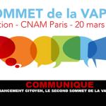COMMUNIQUE : Grâce au financement citoyen, le second Sommet de la Vape aura lieu.