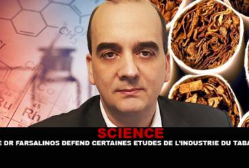 """מדע: ד""""ר Farsalinos מגן על כמה מחקרים במימון על ידי תעשיית הטבק על סיגריה אלקטרונית."""