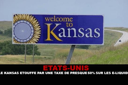 ÉTATS-UNIS : Le Kansas étouffé par une taxe sur les e-liquides de presque 50%.