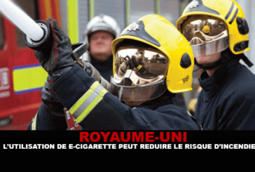 UNITED KINGDOM: The use of electronic cigarettes can reduce the risk of fire.