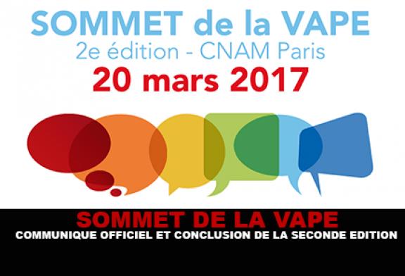 SOMMET DE LA VAPE : Communiqué officiel et conclusion de la seconde édition.