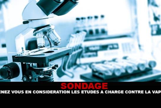 UMFRAGE: Berücksichtigen Sie die Studien gegen den Vape?