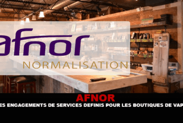 AFNOR: התחייבויות לשירות שהוגדרו עבור חנויות Vape.