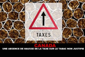 קנדה: העדר מוצדק של מס הטבק עולה.