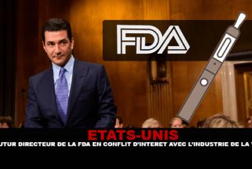 STATI UNITI: futuro direttore della FDA in conflitto di interessi con l'industria dello svapo
