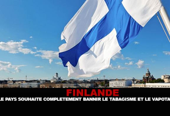 FINLANDE : Le pays souhaite complétement bannir le tabagisme et le vapotage.