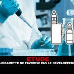 ÉTUDE : La vapeur de la e-cigarette ne favorise pas le développement de cancer.