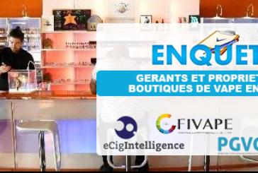 E-CIGARETTE : Résultat de l'enquête menée sur les boutiques de vape en France.