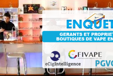 E-CIGARETTE: תוצאה של הסקר שנערך על חנויות VAPE בצרפת.