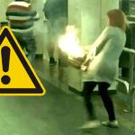 BIÉLORUSSIE : Nouvelle explosion d'e-cigarette, le sac prend feu !