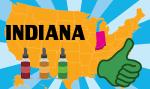 USA: nello stato dell'Indiana, la vape trova colori!