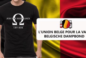 BELGIUM: UBV-BDB משיקה חולצה כדי לממן את ההגנה של vape!