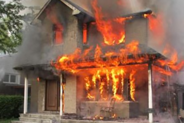USA: A fire in a Kentucky home following an e-cigarette explosion.