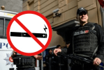 TURKEY: Police intervene at a banned e-cigarette event.