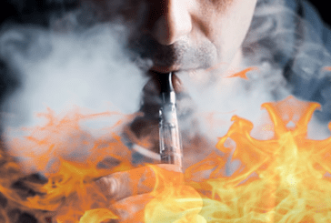 COMPANY: Burned to the second degree after the explosion of his e-cigarette.
