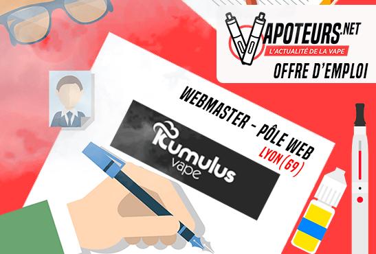 הצעת עבודה: Webmaster Web Center - Kumulus Vape - ליון (69)