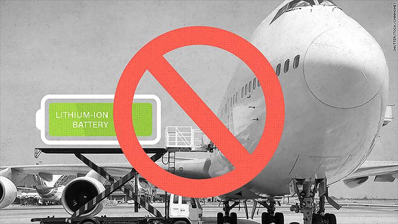 מניעה: EASA מודאג מהובלת סוללות ליתיום באוויר.