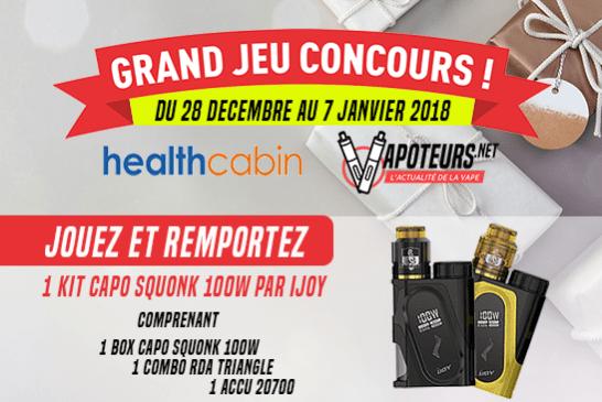 CONCOURS : Grand jeu Healthcabin / Vapoteurs.net