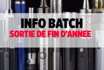 BATCH INFO: Back on e-cigarette releases of the end of the year!